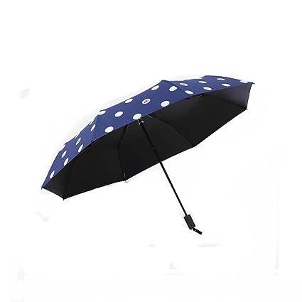 LUCHA Paraguas de Lluvia con diseño de Elefante, Color Negro, con Pegamento para el