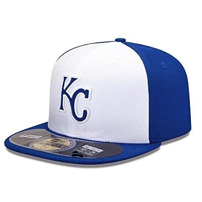 MLB Kansas City Royals Batting Practice 59Fifty Baseball Cap, White/Royal