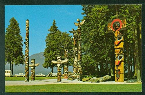 Totem Poles Stanley Park Vancouver British Columbia Canada Vintage Postcard