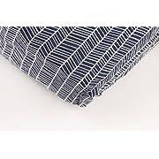 Danha Premium Fitted Cotton Crib Sheet With Herringbone Print – Standard Crib Mattress Size – Toddler, Kids Bedding – Navy Herringbone Nursery Décor Theme – Ideal Baby Shower Gift For Boys Or Girls