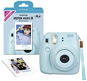 1 X Fuji Instax Mini 8 N White + Original Strap Set Fujifilm Instax Mini 8N Instant Camera