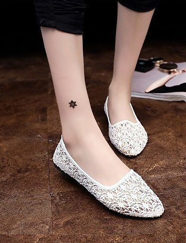 ShangYi Women's Shoes Flat Heel Flip Flops/Comfort Sandals Outdoor/Office & Career/Dress Black/Brown/White White JcrWWjN