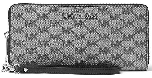 Michael Kors Jet Set Travel Zip Around Travel Wallet (Black) by Michael Kors