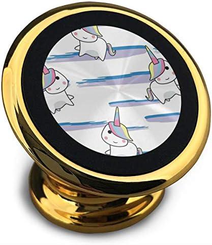 漫画ユニコーン 携帯電話ホルダー おしゃれ 車載ホルダー 人気 磁気ホルダー 大きな吸引力 サポートフレーム 落下防止 360度回転