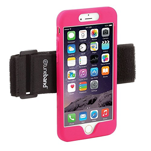 (TuneBand LITE for iPhone 7 Premium Sports Armband with Silicone Skin and Armband (Pink))