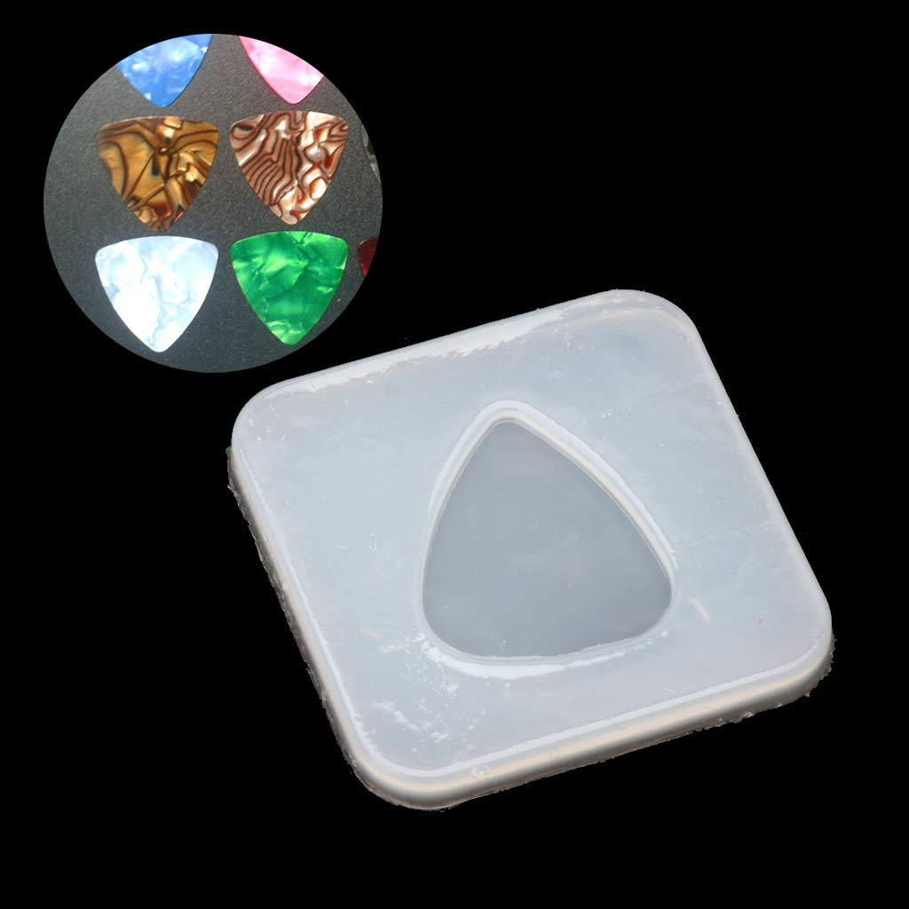 ruiruiNIE Forma Geometrica Triangolo Plettro Stampo in Silicone Gioielli Ciondolo Resina Stampo DIY Bianco Trasparente