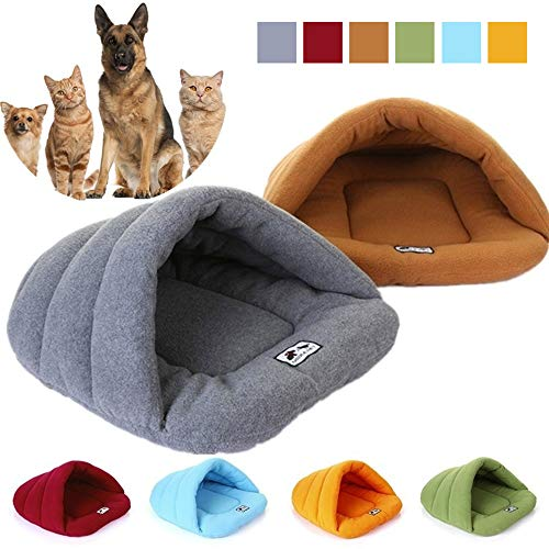 Simu US Sleep Zone Cuddle Cave Pet Bed, Pet Tent Burrow Bed, Cozy Triangle Bed for Cats and Small Dogs