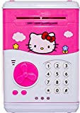 VSHINE KITTY ATM for kids Anti theft Money Safe ATM Smart Electronic Lock Piggy Bank , Coin/Note Safe