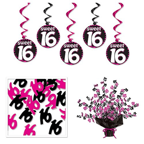 Beistle SWEET 16 Birthday Party Decorations - Centerpiece...