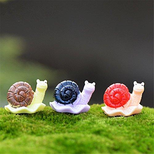 Cooltop 3pcs Mini Cute Snails Fairy Garden Micro Landscape Snails Miniature Home Garden Decoration Plant Pots Bonsai Craft Decor