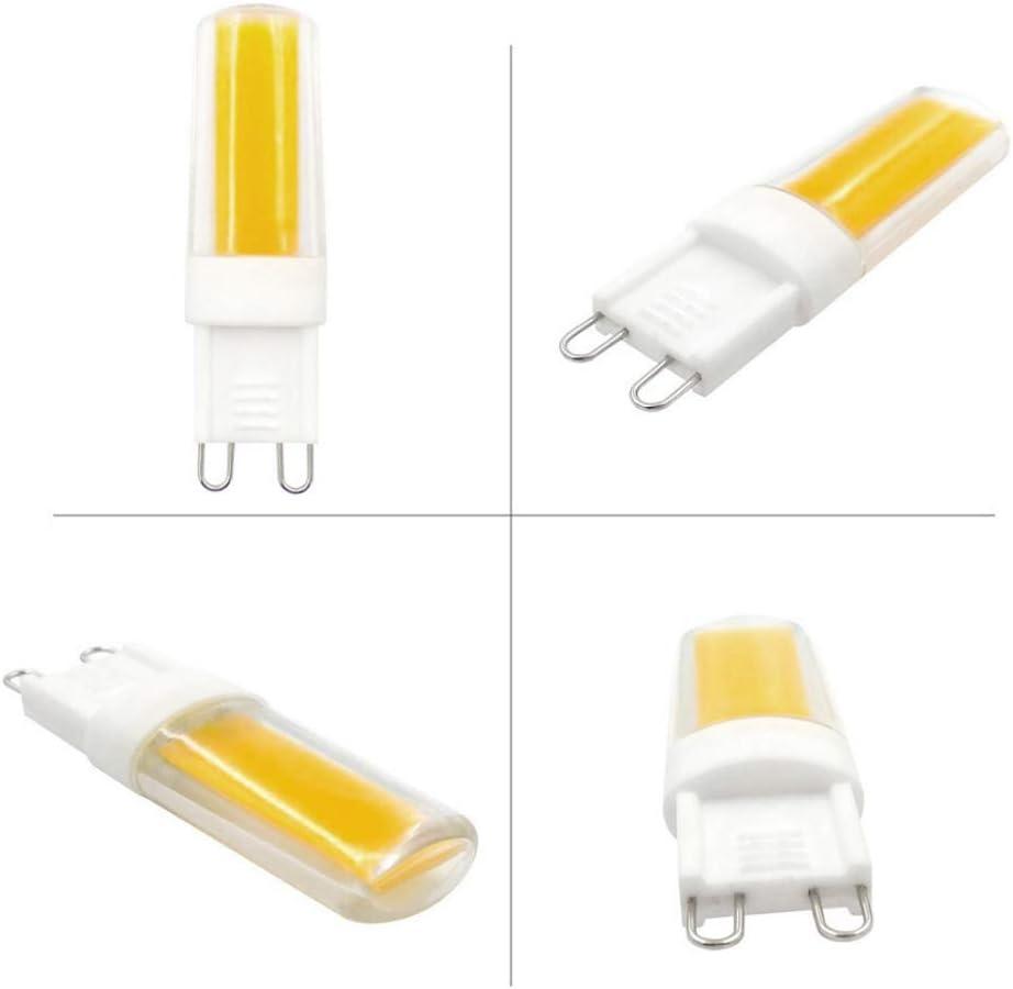 MD Lighting 12-Pack G9 Ceramic COB LED Light Bulbs 4W Dimmable 3000K Warm White 400LM Equivalent to 40 Watt Halogen Bulb for Ceiling Fan Light Pendant Lamp Bathroom Vanity Light Wall Sconce AC 110V