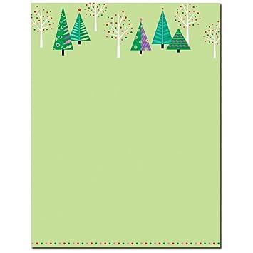 amazon com sparkle trees christmas holiday stationery letterhead