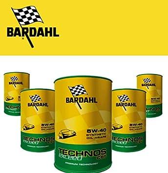 5 Lt Aceite Motor Bardahl Technos Exceed C60 5 W40 - 5 Latas - BMW Longlife 04: Amazon.es: Coche y moto
