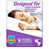 Toddler Waterproof Sheet/Mattress Bed Wetting Protector- 2 Count. Prefect for Potty Training. Fits All Cribs, Cots and Day Beds. Super Soft, Easy to Wash and Dry. Award Winning Mattress Protection.
