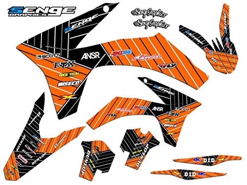Senge Graphics kit compatible with KTM 2003-2004 SX, Race Series Orange Graphics Kit ()