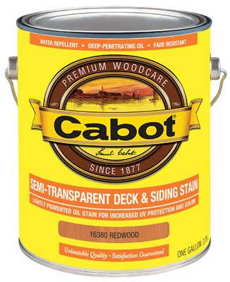 Cabot Samuel 16380-07 Gallon Redwood Semi-Transparent Deck & Siding Stain - Pack of 4