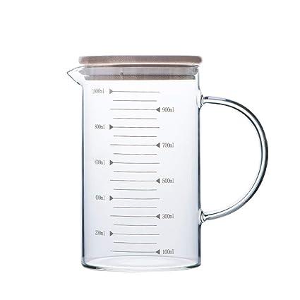 Chunxia Copa de medición de Vidrio para Hornear con Horno de microondas de Taza de medición