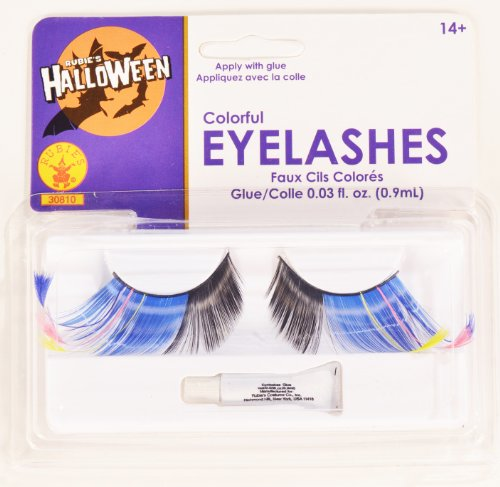 Rubies Colorful Eyelashes and
