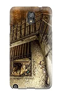 Flexible Tpu Back Case Cover For Galaxy Note 3 - Abandoned Stairwell