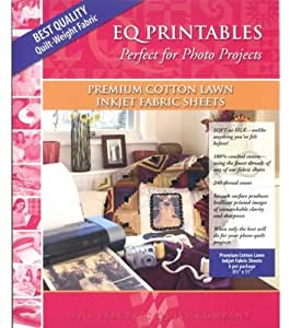 Electric Quilt? Printables - Inkjet Cotton Lawn Fabric Sheets 6/Pkg