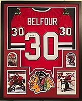 Framed Ed Belfour Autographed Signed Chicago Blackhawks Jersey Jsa Coa