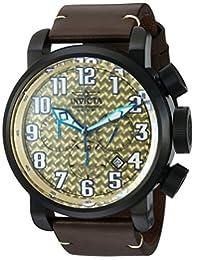 Invicta Men's 22268 Aviator Analog Display Swiss Quartz Brown Watch