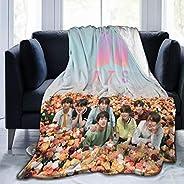 Aoxinquji Kpop BTS Bangtan Boys Dynamite Ultra-Soft Fleece Blanket Throw Super Soft Fuzzy Lightweight Hypoalle