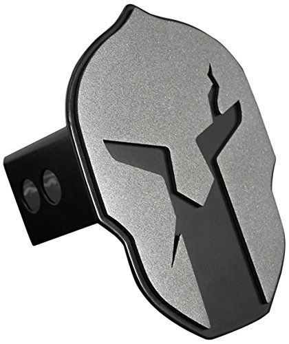 All Sales AMI 1041AMK Helmet Style Anthracite on Black Hitch Cover