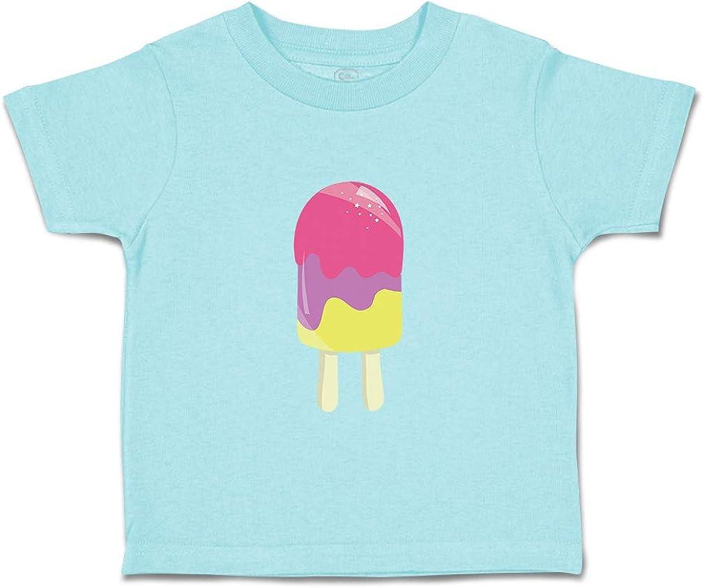 Custom Baby /& Toddler T-Shirt Purple Pink Yellow Popsicle 2 Sticks Cotton