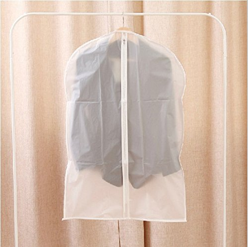 Famixyal Transparent Suit Storage Protector Zipped Suit Cover Suit Garment Clothes Covers Bags Clear Vinyl Peva Cover Suit Dustproof Cover (Child Size 45x75cm)