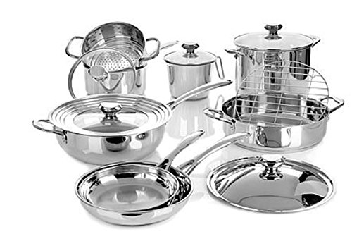 Wolfgang Puck Bistro Elite Stainless Steel Cookware Set ~14-piece