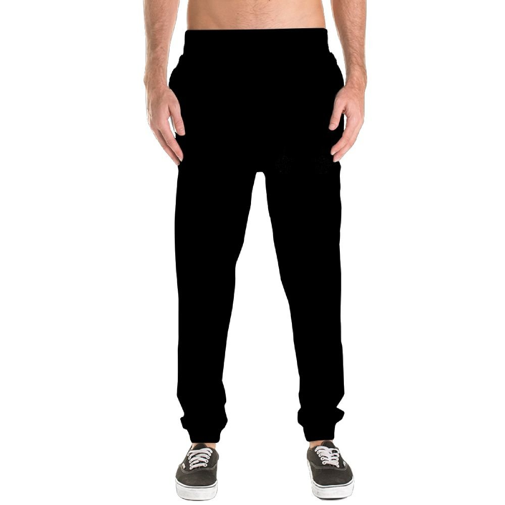 Xianjingshui Fuck Skull Men's Jogger Sweatpants Drawstring Elastic Waist Outdoor Running Trousers Pants With Pockets