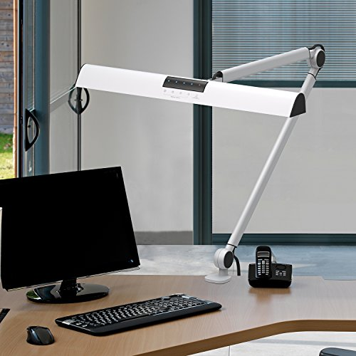 YOUKOYI A509 LED Swing Arm Architect Desk Lamp Clamp, Drafting Table Lamp  For Reading/