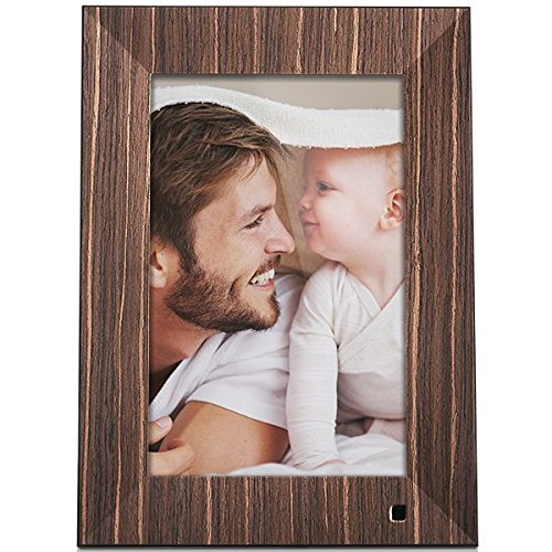 Cheap NIX X10J – Wood Lux 10.1″ Hi-Res Digital Photo & HD Video Frame (Non-Wi-Fi), With Hu-Motion Sensor