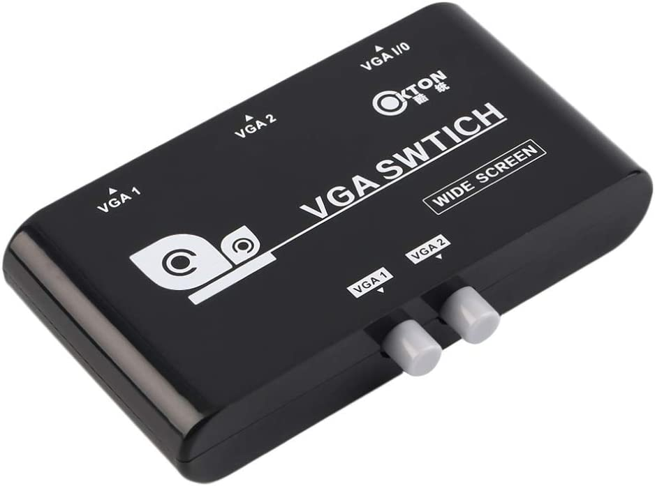 US, Cable Length: Other Computer Cables 2 in 1 Out VGA//SVGA Manual Sharing Selector Switch Switcher Box for LCD PC Yoton