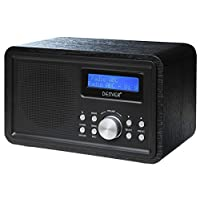 Denver DAB-35 Portable DAB Digital Radio with DAB+ Radio, FM Radio, Digital Alarm Clock and LCD display