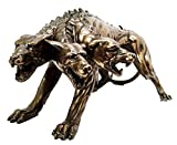 GREEK GUARD DOGS HADES HELL HOUND CERBERUS KERBEROS STATUE FIGURINE