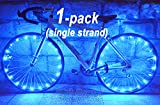 "LED ""BikeStrings"" (Blue) - Flexible bright MicroLED bicycle light strings - Dazzling display - Light up your bike! Cast light all around you. Be safe. Be visible. Be seen."