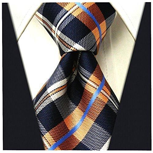 Logo Necktie Ties Silk (Plaid Ties for Men - Woven Necktie - Mens Ties Neck Tie by Scott Allan)