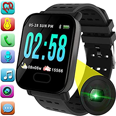 Smart Watch Phone - Fitness Tracker with Heart Rate Blood Pressure Monitor for Mother Father, Sport Watch with Pedometer, Activity GPS Tracker Calorie Sync Phone for Android Ios, Mother Day Gifts