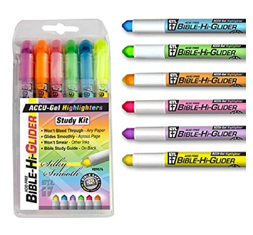 Accu-Gel Bible Highlighter Study Kit (Pack of 6)