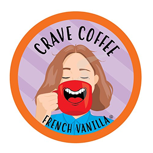 Crave Coffee Single-Cup Coffee for Keurig K-Cup Brewers, French Vanilla, 40 Count