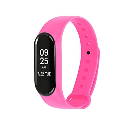 Aubess para Xiaomi Mi Band 3 Bandas - Correa de Silicona Impermeable de Repuesto para Xiaomi Mi Band 3 Smart Watch Accesorios
