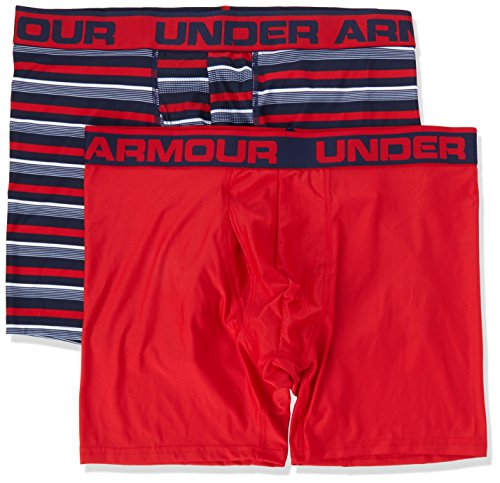 Under Armour Men's Original Series Printed Boxerjock 2-Pack, Academy/Red, X-Large