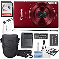 Canon PowerShot ELPH 190 IS Digital Camera (Red) with 10x...