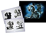 UMR-Design AS-073 dragon Airbrushstencil Step by Step Size XL