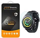 [3-Pack] Supershieldz for Samsung Gear Sport Tempered Glass Screen Protector, (Full Screen Coverage) Anti-Scratch, Anti-Fingerprint, Bubble Free, Lifetime Replacement Warranty