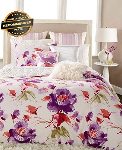 Gatton Premium New Gigi 4 PC Full/Queen Comforter Set Lavender Floral | Style Collection Comforter-311012625