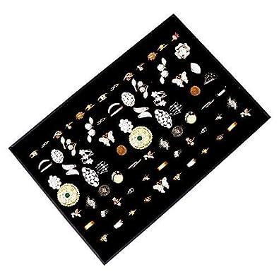 Exhibidor y Caja Organizar Joyas por Kurtzy - Grande con Acabado en Cuero Sintético Perfecto para Anillos y Gemelos - Soporte para Anillos y Gemelos ...