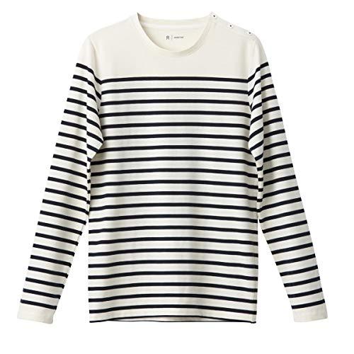 La Redoute Collections Mens Breton Striped Cotton T-Shirt White Size XXL from La Redoute